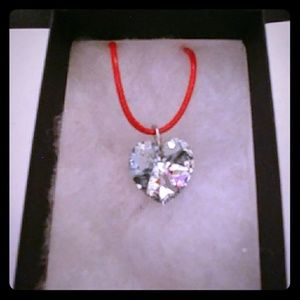 Flash Diamond Crystal Heart Necklace